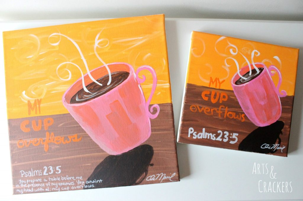 Coffee and Canvas Party Paintings