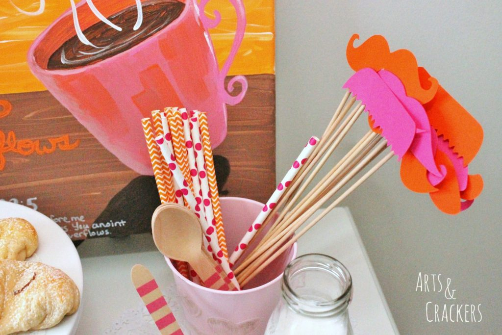 Coffee and Canvas Party Straws