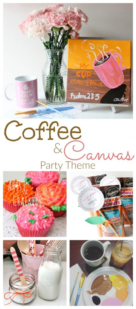What goes better with coffee than cupcakes, friends, and art? See how we threw a Coffee and Canvas party with the new Dunkin' Donuts vanilla cupcake coffee.