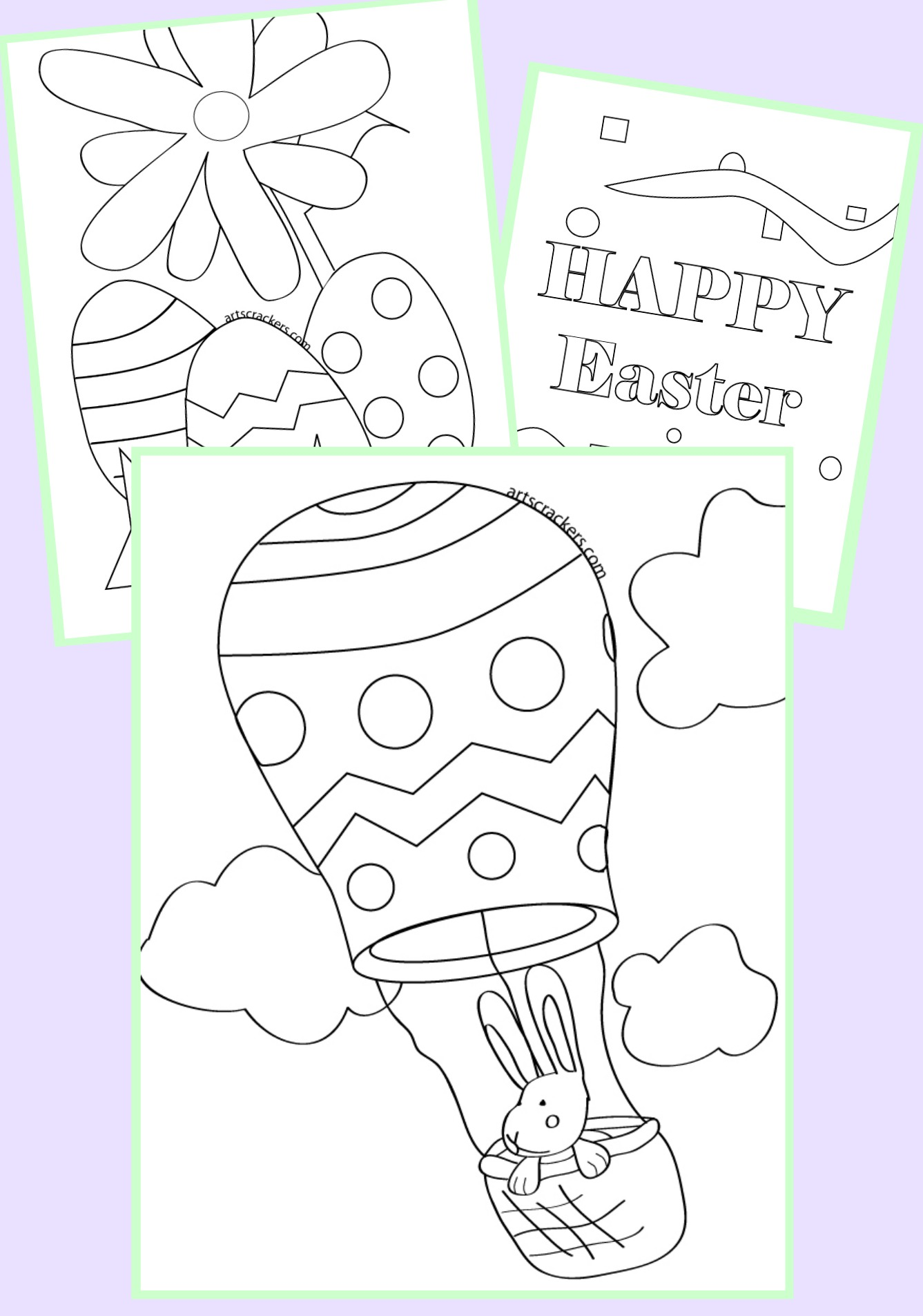 Printable Easter-<br /> themed Coloring Pages for Kids