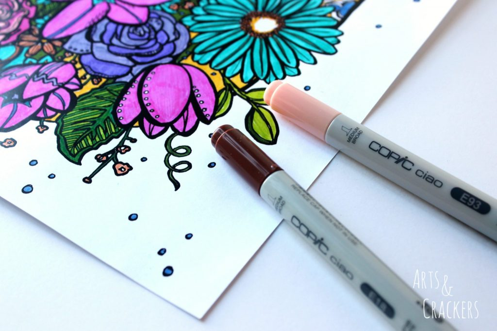 Flowers Copic Ciao Markers