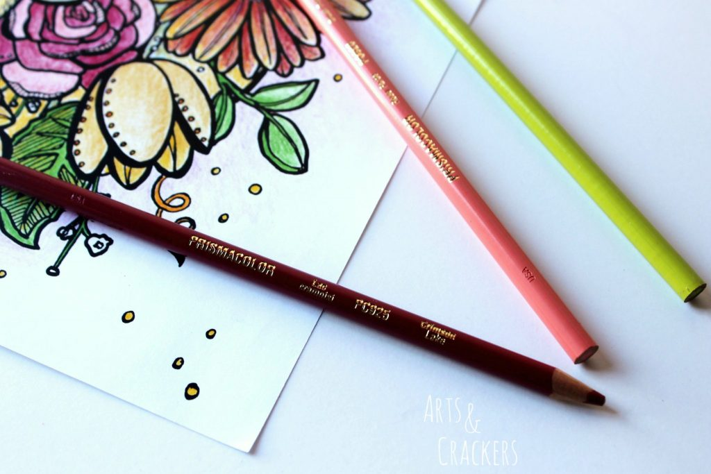 Flowers Prismacolor Pencils