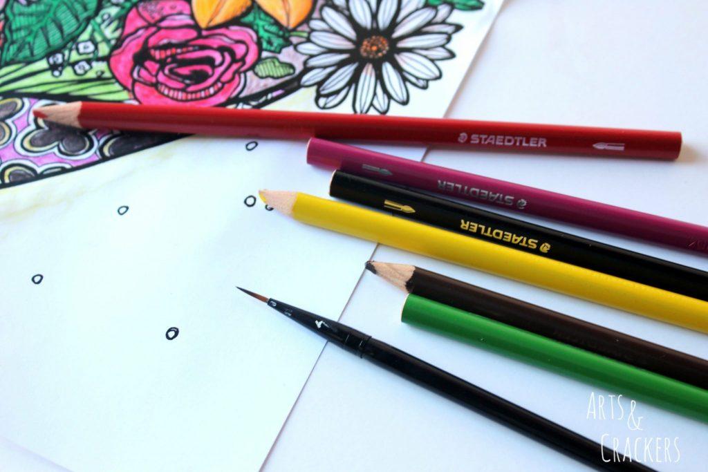 Flowers Staedtler Watercolor Pencils