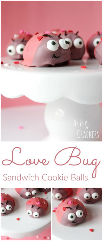 What an adorable Valentine's Day treat these Love Bug Cookie Balls make!