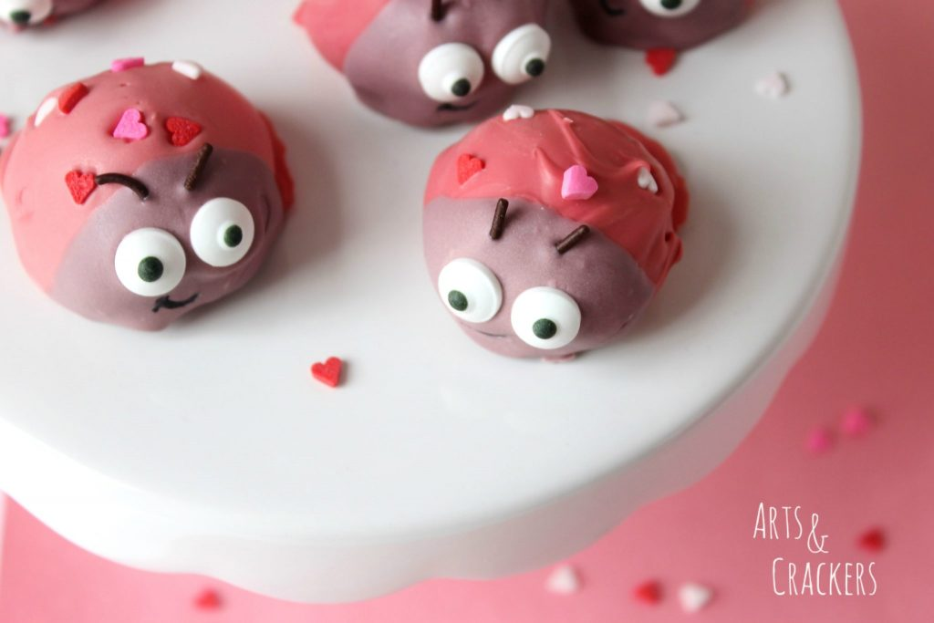 Sandwich Cookie Balls Love Bugs