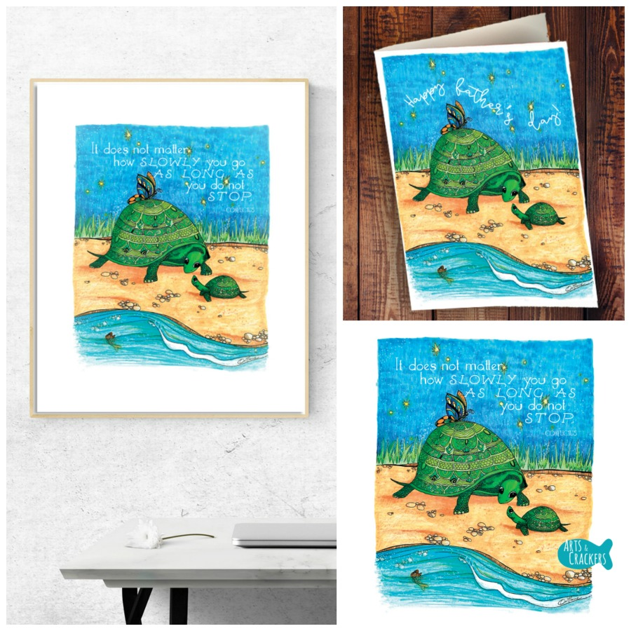 Printable 'Turtles Together' Cards and Wall Decor Package