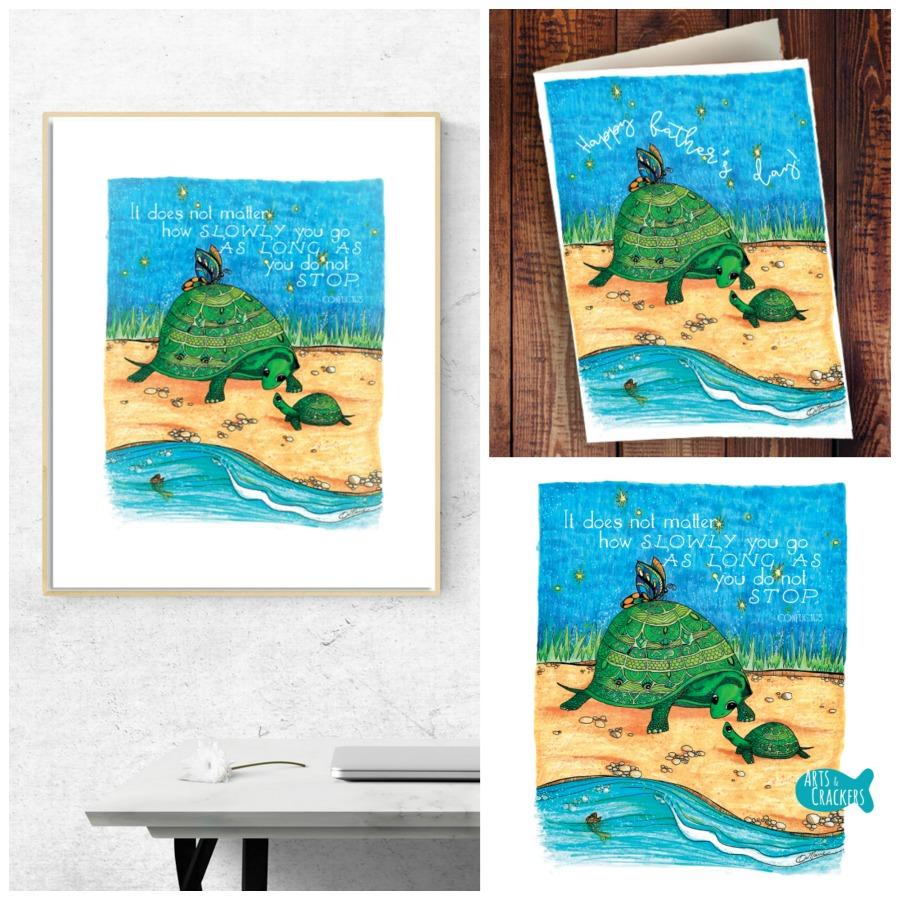 Turtle Together Mockup Collage