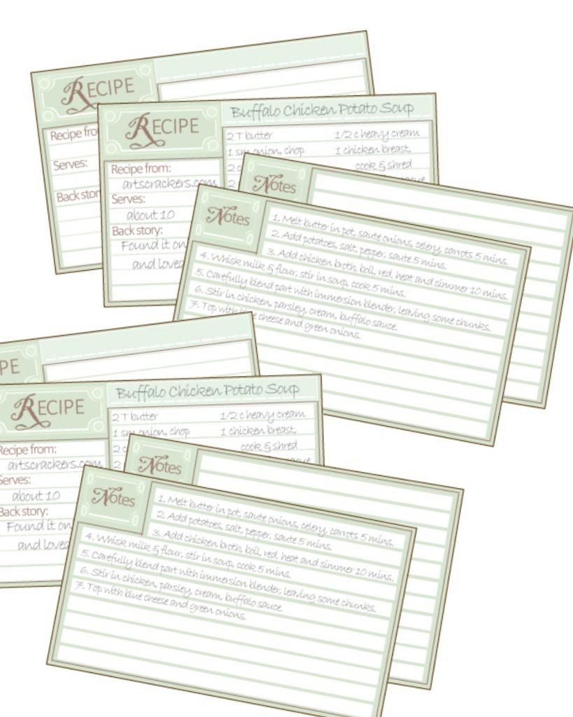 Buffalo Chicken Potato Soup Recipe Cards Pic