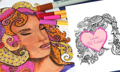 Fab Faces Coloring Page Freebie