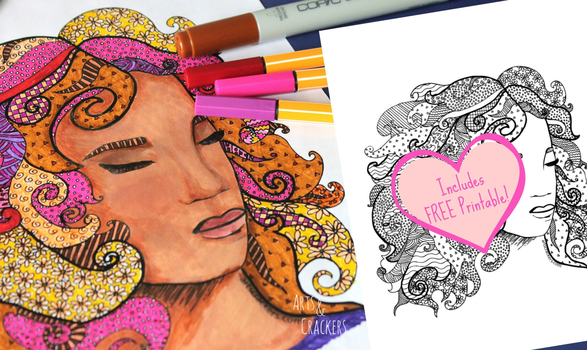 free fab faces coloring page
