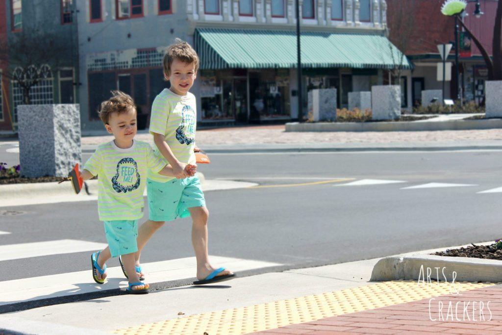 OshKosh B'Gosh Boys Traveling Across the Street
