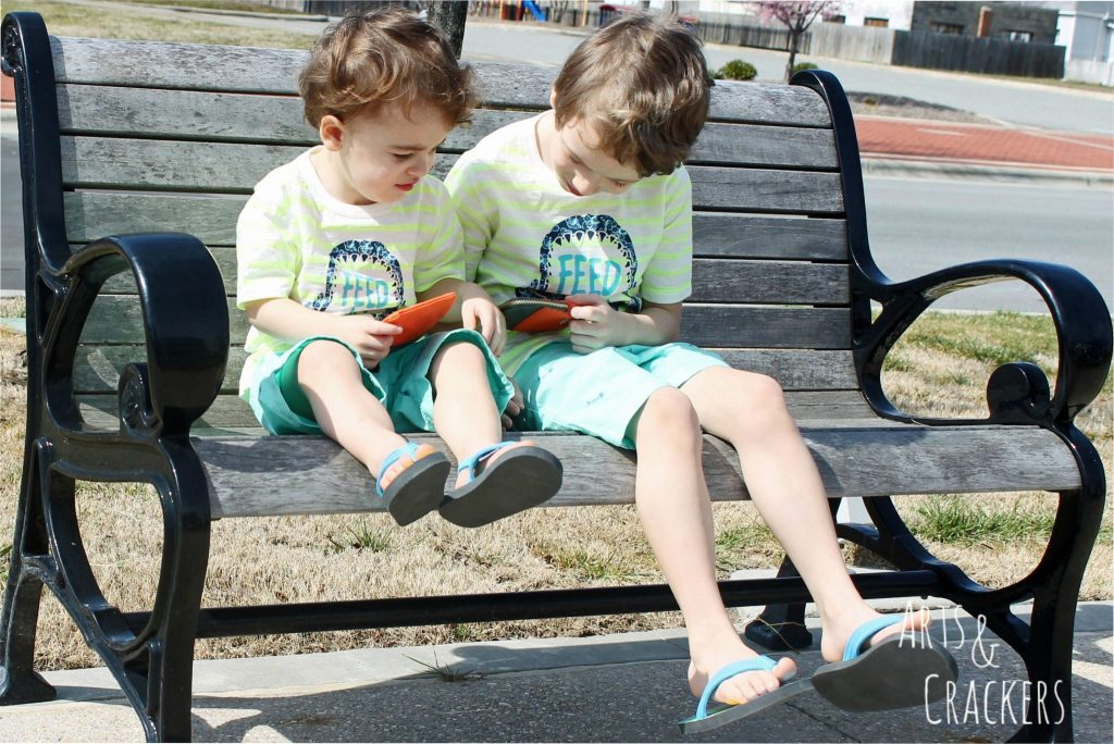 OshKosh B'Gosh Boys on Bench