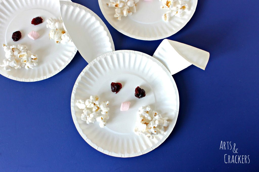Paper Plate Bunny Face Snack