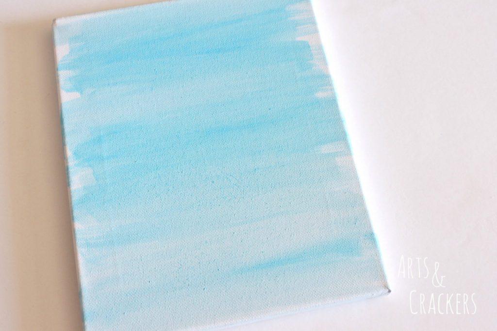 Rainbow Canvas Art Step 1