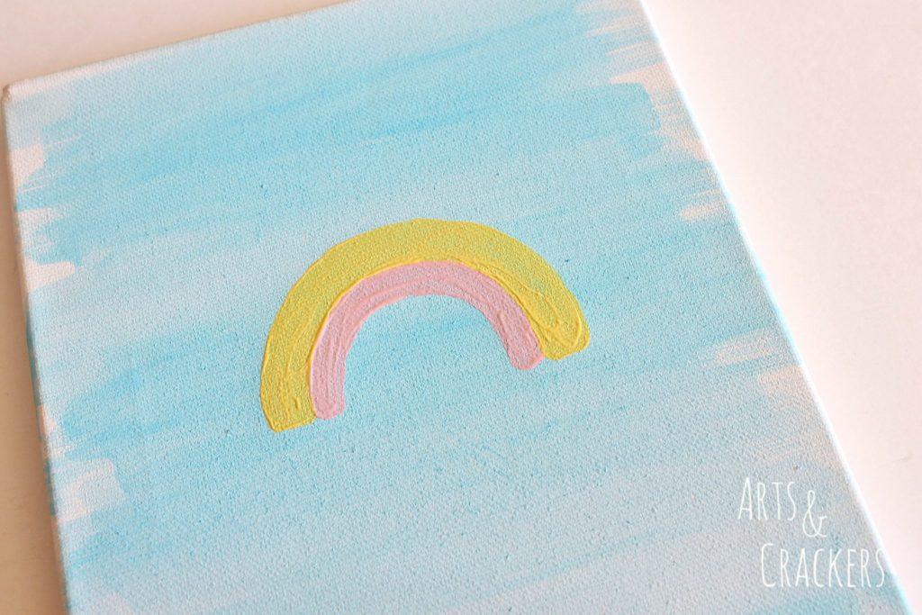 Rainbow Canvas Art Step 2