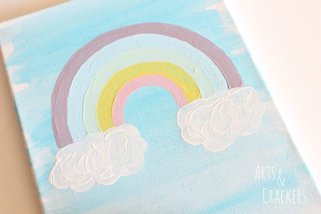 Rainbow Canvas Art Step 3