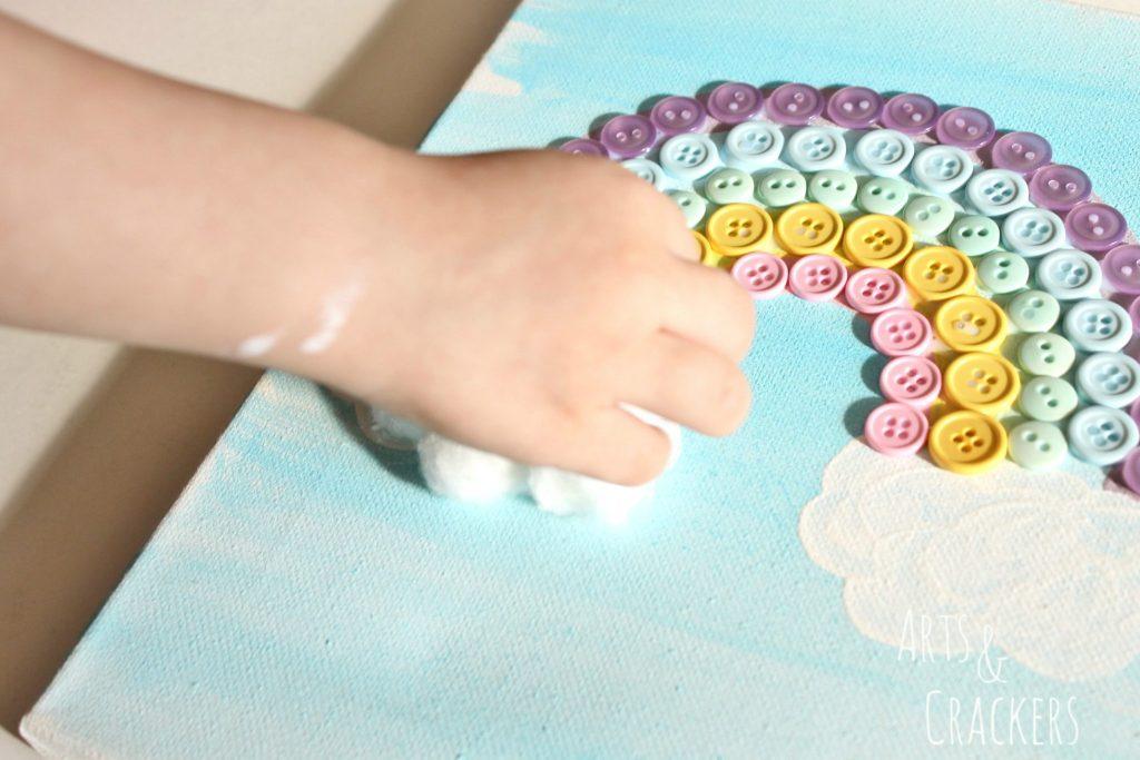 Rainbow Canvas Art Step 6