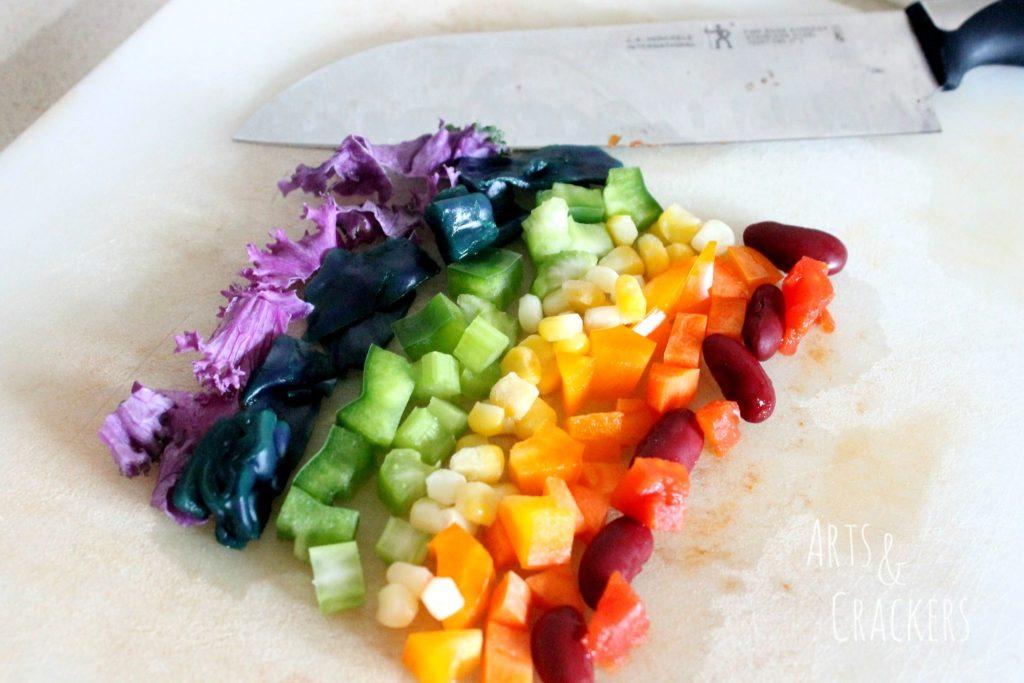 Rainbow Chili Recipe Veggies