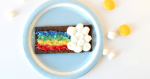 Super Simple Rainbow S'more Snack