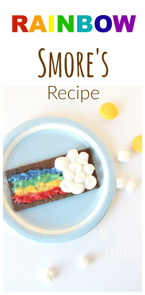 This sweet rainbow s'mores snack for kids will make a fun St. Patrick's Day treat. Click the picture to get the instructions.
