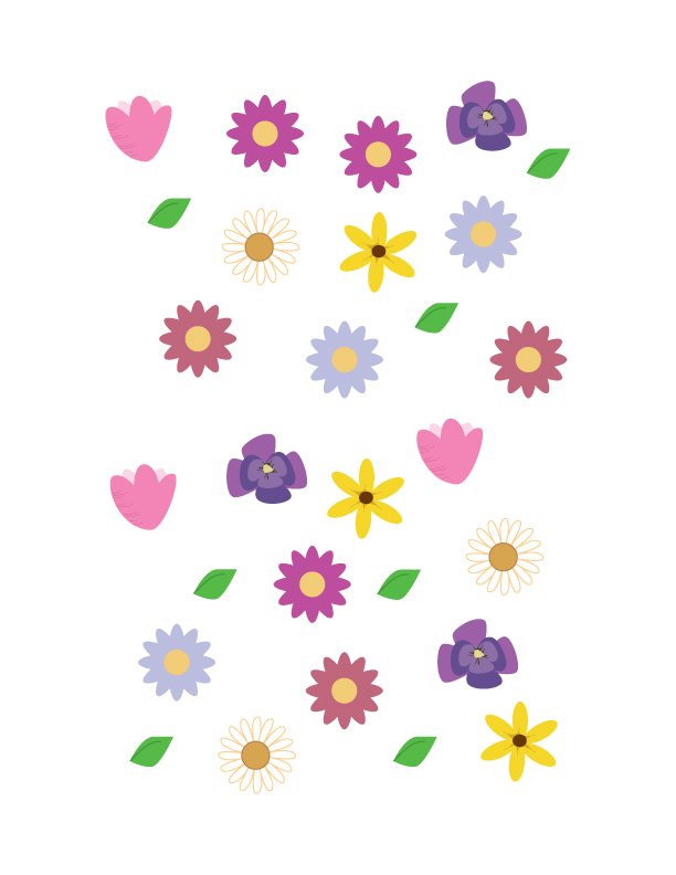 Printable Flower Treat/Cupcake Toppers