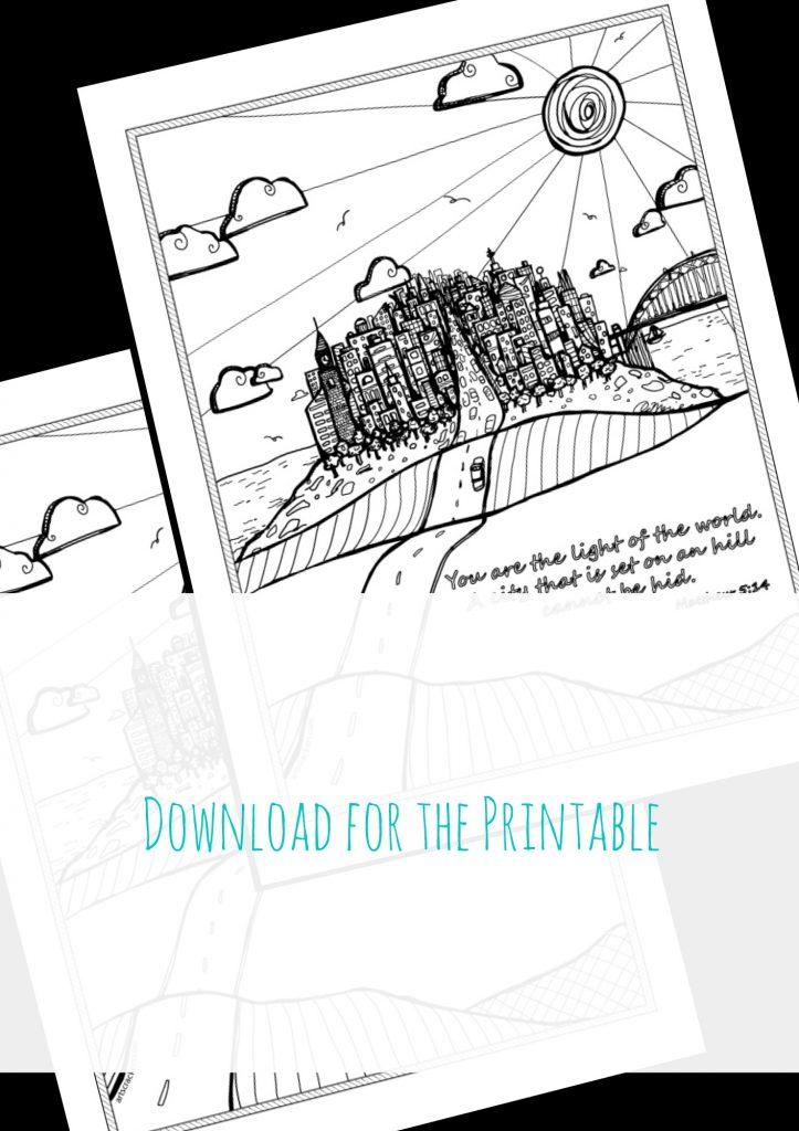 City on a Hill Printable