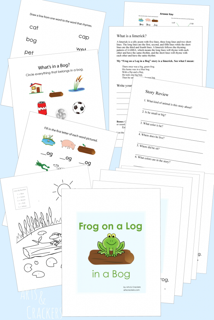 Frog on a Log Book and Worksheets