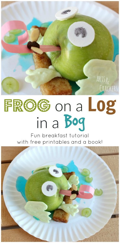 This fun Frog on a Log in a Bog breakfast idea for kids gets you crafty with food. It includes worksheets and is a fun kid made food activity.
