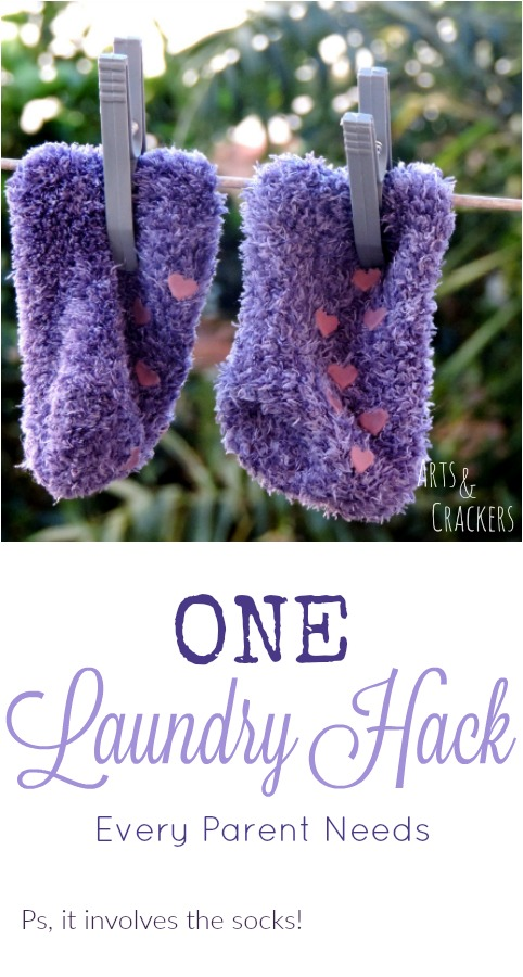 One simple laundry hack for parents. A parenting tip that involves a practical life skills game.