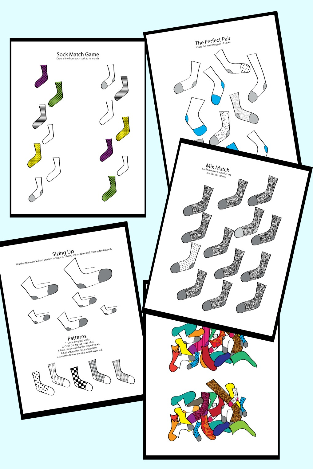 Printable 'Lessons with Socks Set