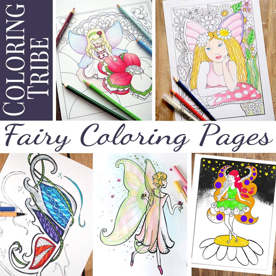 Fairy Coloring Pages Roundup