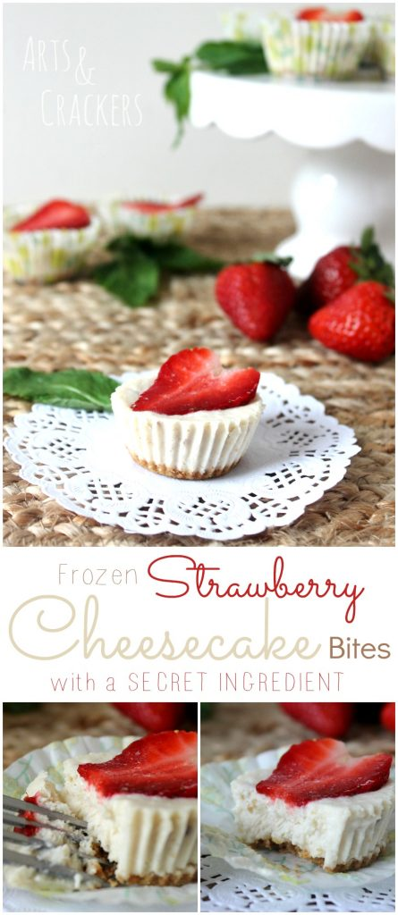 These frozen mini strawberry cheesecakes are a great family dessert--a recipe for leftover baby cereal. They're incredibly tasty!