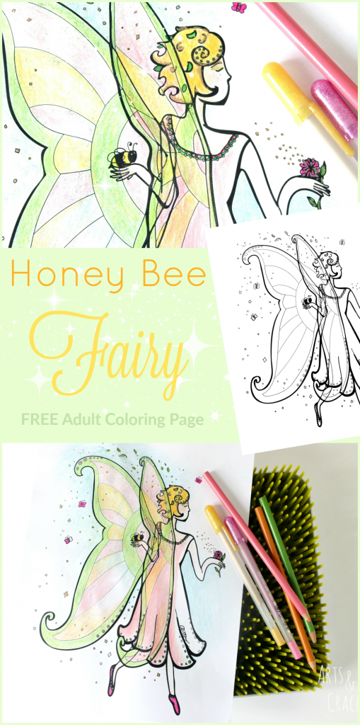 This free fairy coloring page will bring magic into your day | Adult Coloring | Fairy | Printable | Fantasy | Whimsical | Coloring