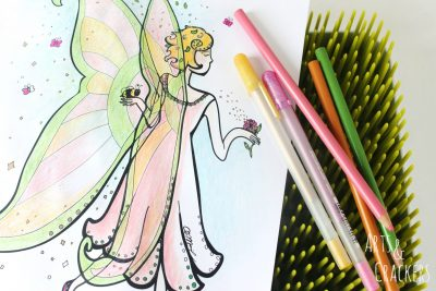Honey Bee Fairy Coloring Page Cover