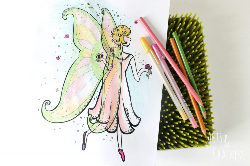 Honey Bee Fairy Coloring Page Full