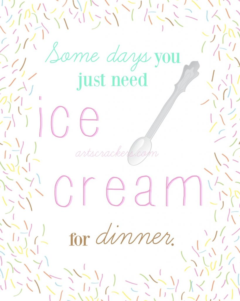 Ice Cream for Dinner Watermarked
