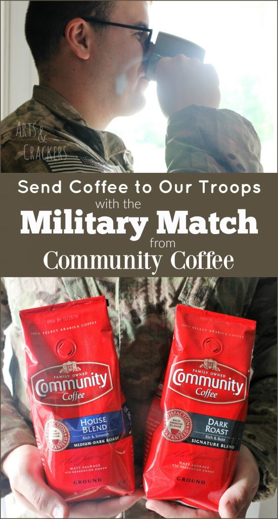 Send coffee to our troops through the Community Coffee Military Match Program | Military | Deployment | Donating | Support Our Troops | Coffee