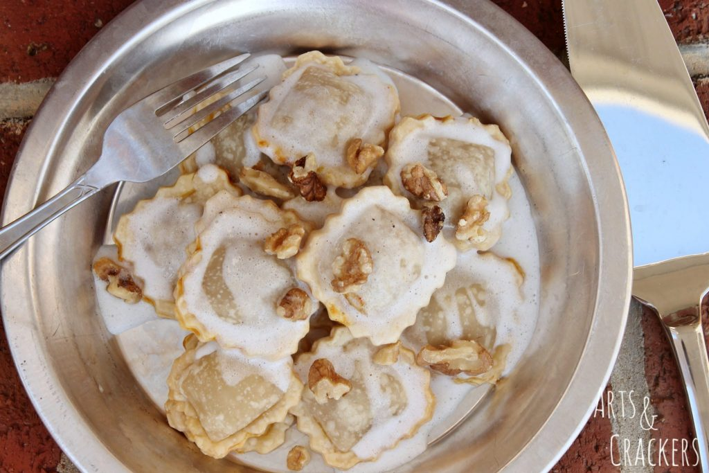 Pumpkin Pie Ravioli with Walnuts