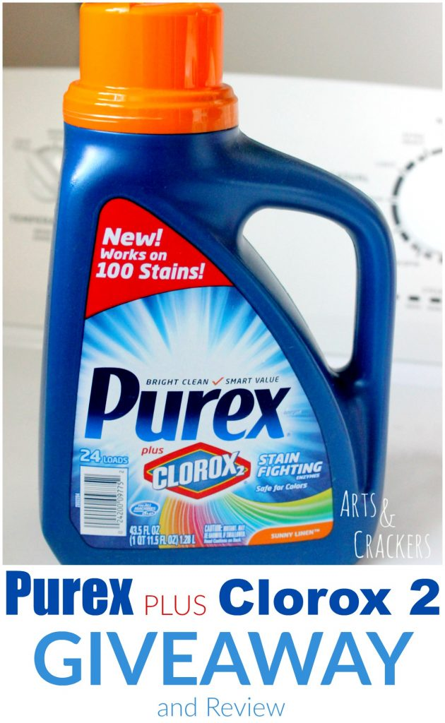 Purex Plus Clorox 2 Laundry Detergent Giveaway and Review | Cleaning