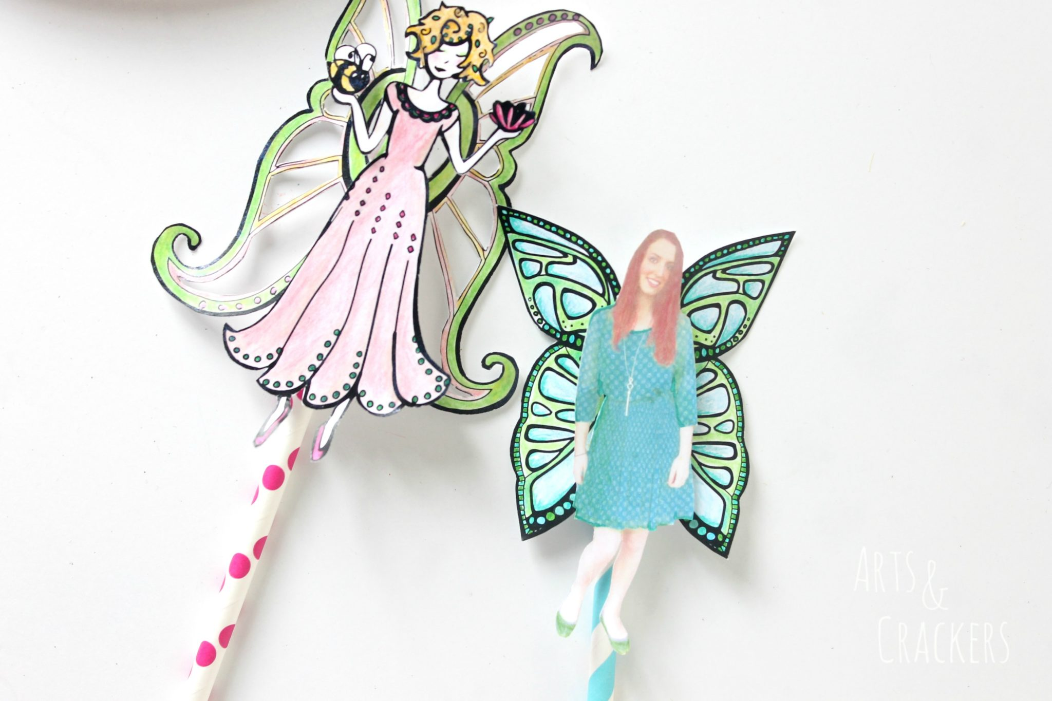 Paper Fairy Puppets Tutorial | Arts & Crackers