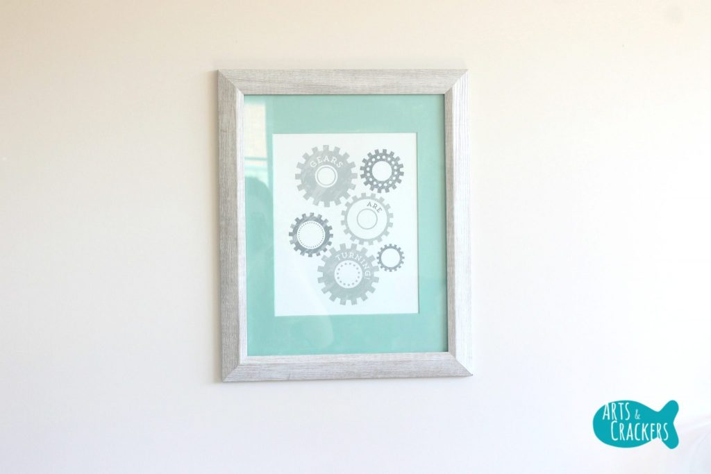 Minted Playroom Makeover Framed Prints Gears