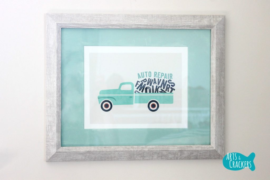 Minted Playroom Makeover Framed Prints Truck