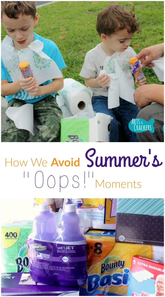 How we avoid and clean up summer messes | P&G | Family | Toddler | Summer | Avoid the Oops | Cleaning | Home