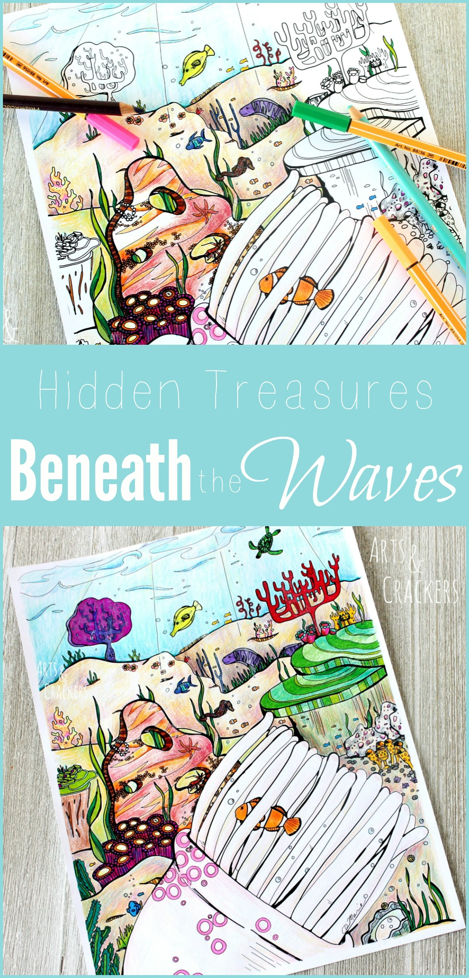 Hidden Treasures Ocean Coloring