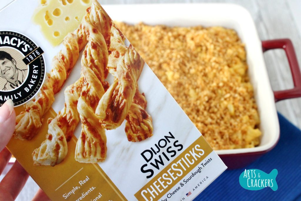 Baked Macaroni and Cheese CheeseSticks Crumb Topping