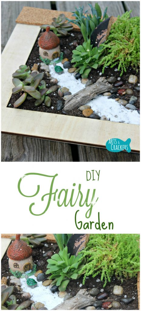 This succulent fairy garden is fun to make with kids | fairy garden | succulent garden | tutorial | DIY | gardening | kids
