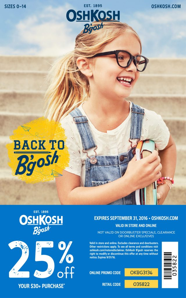 OshKosh B'gosh Coupon 2016 25% off