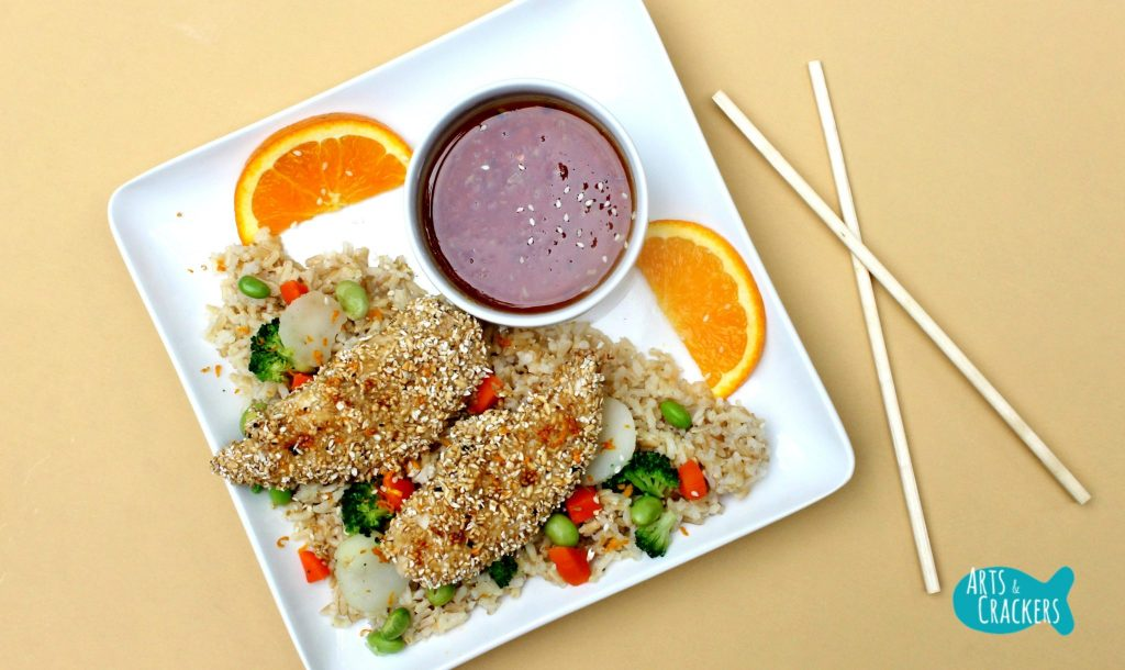 Oat Crusted Chicken Asian Menu