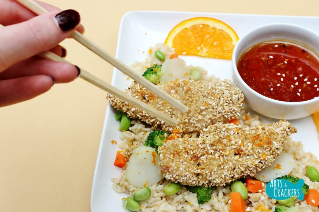 Oat Crusted Chicken Chinese Inspired