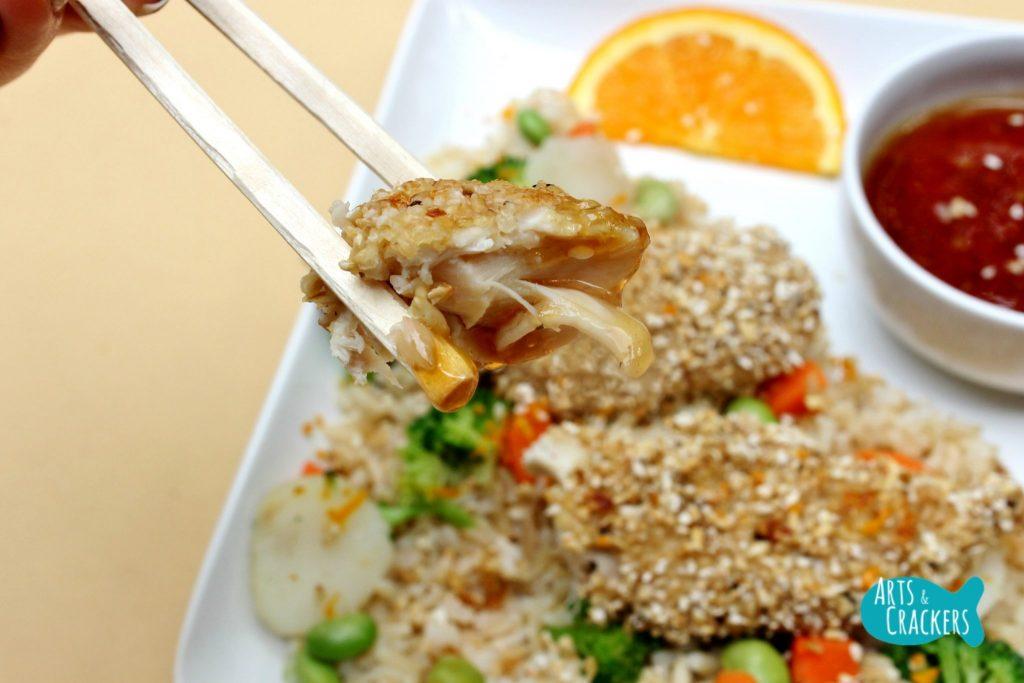 Oat Crusted Chicken Chopsticks